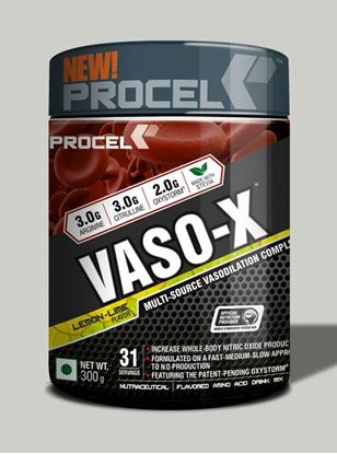 Picture of PROCEL VASO-X Advanced Nitric Oxide Booster 300g 31 servings Lemon Lime