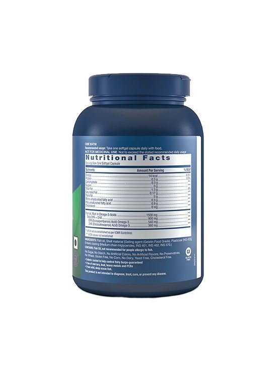 Picture of GNC Triple Strength Fish Oil - Omega-3 Supplement 900mg 60 Softgels