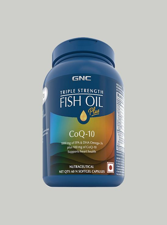 Picture of GNC Triple Strength Fish Oil Plus With 1000 mg, 60 Enteric Coated Softgels