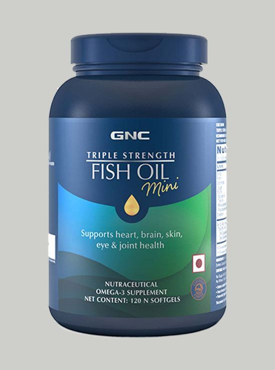 Picture of GNC Triple Strength Fish Oil - Omega-3 Supplement - 900 mg 120 Softgels