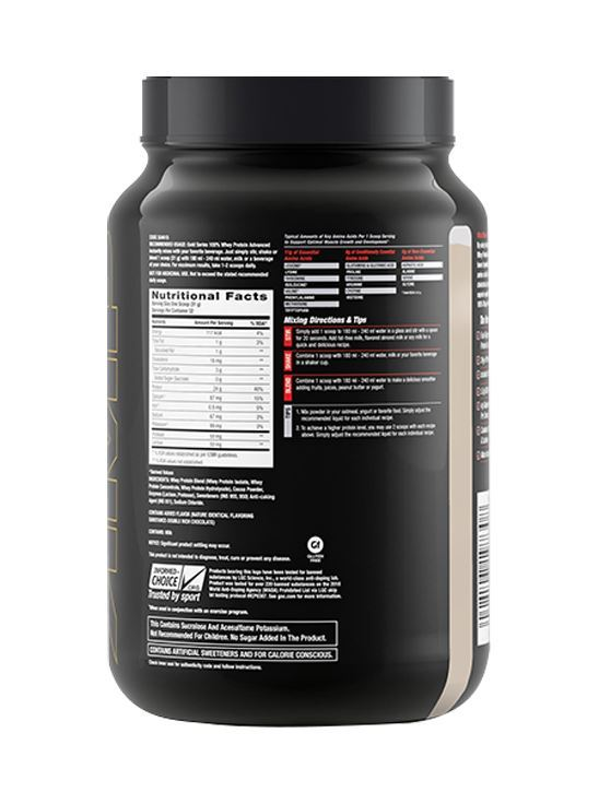 Picture of GNC Amp Gold Series 100% Whey Protein Advanced Double Rich Chocolate- 2.2 lbs