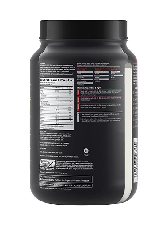 Picture of GNC Amp Gold Series 100% Whey Protein Advanced Vanilla Ice Cream- 2.2 lbs