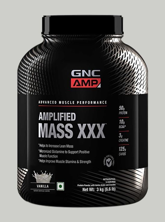 Picture of GNC AMP Mass XXX Gainer Powder Vanilla Flavour - 3Kg