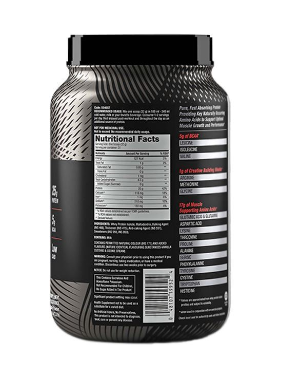 Picture of GNC AMP Pure Isolate - 25g Protein, 5g BCAA, Low Carb - 2.2 lbs, 1 kg (Vanilla Custard)