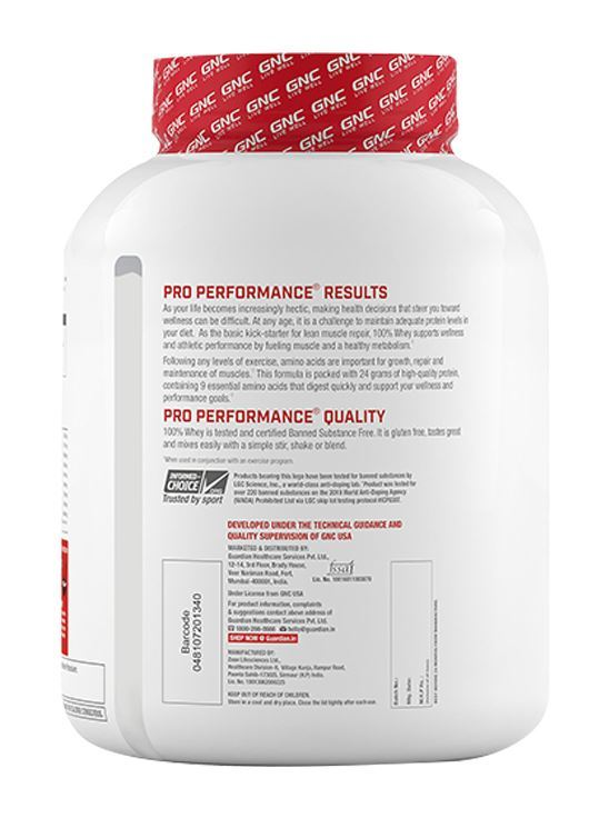 Picture of GNC Pro Performance® 100% Whey Protein - 4.4 lbs, 2 kg (Creamy Strawberry)