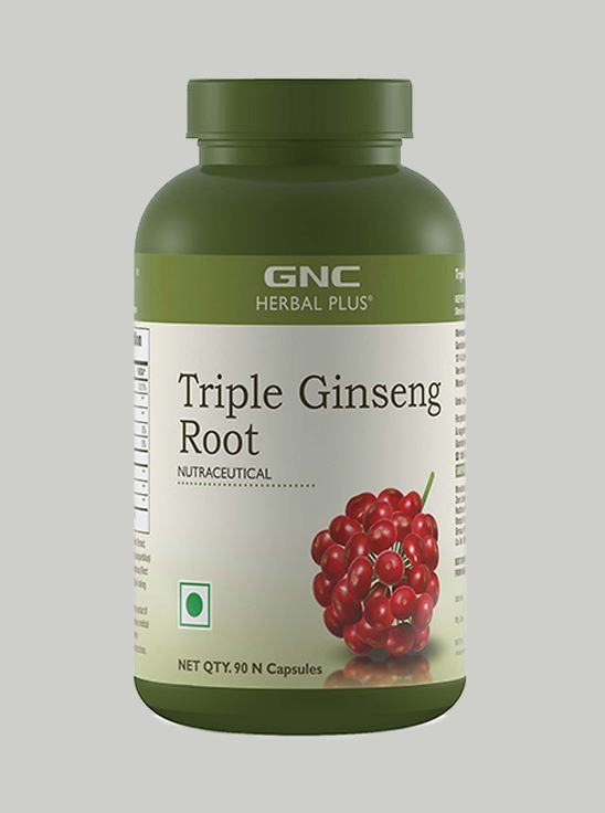 Picture of GNC Herbal Plus® Triple Ginseng Root - 90 Vegetarian Capsules