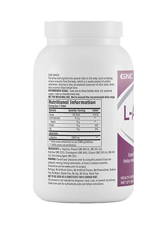 Picture of GNC L-Arginine 1000 mg - 90 Caplets