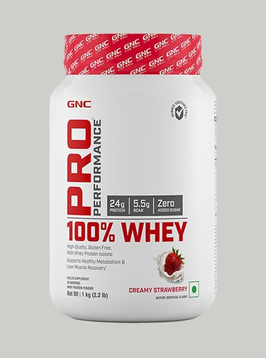 Picture of GNC Pro Performance 100% Whey Protein Creamy Strawberry- 2.2 lbs