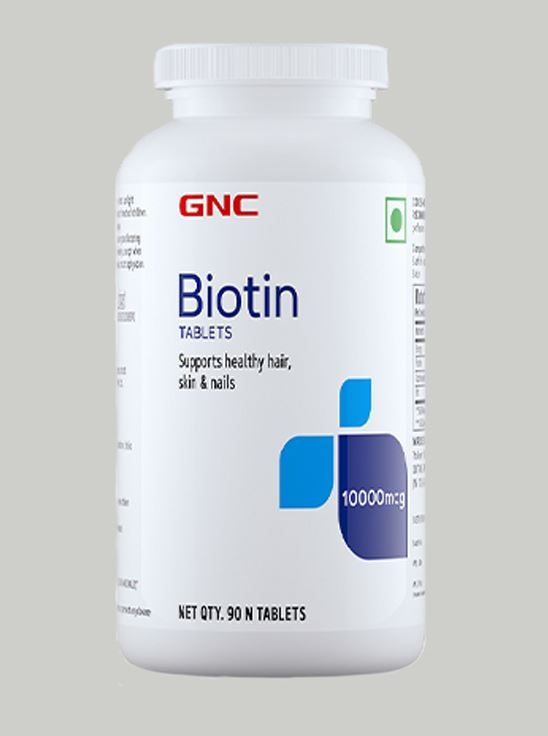 Picture of GNC Biotin - 10,000 mcg Tablets For Healthy Hair, Skin & Nails- 90 Tablets