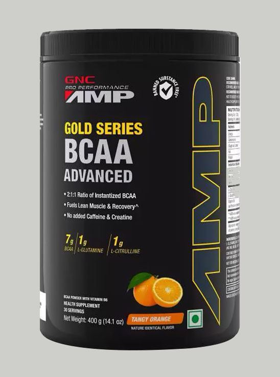 Picture of GNC Amp Gold BCAA Advanced Tangy Orange 400 gm