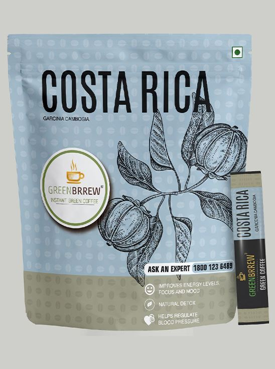 Picture of Greenbrrew Instant Green Coffee, Garcinia Cambogia (COSTA RICA) for Weight Management, 20 Sachets, 30g