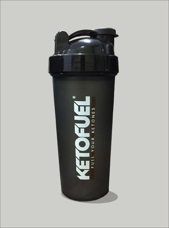 Picture of Ketofuel Shaker Black body-Black Cap 600ml