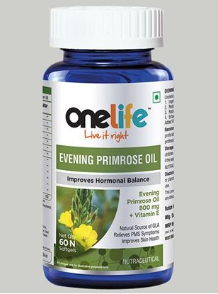 Picture of Onelife Evening promise Oil for Premenstrual Mood Swings 60 Softgels