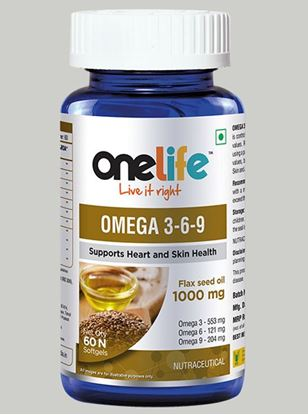 Picture of Onelife OMEGA  3-6-9 for Cardiovascular Health 60 softgels