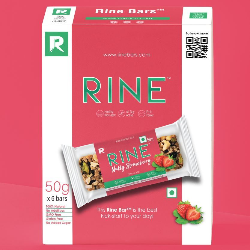 Picture of Rine Nutty Strawberry Bar Pack of 6