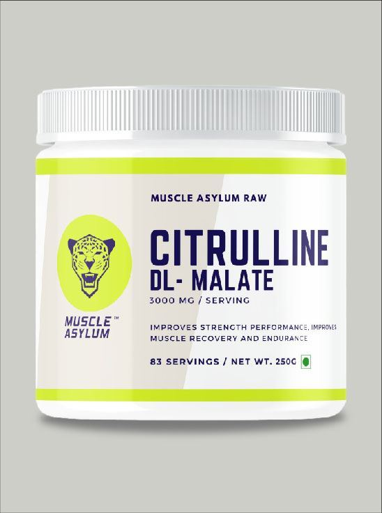 Picture of Muscle Asylum Citrulline Malate - Pure/Unflavoured - 83 Servings, 250gm