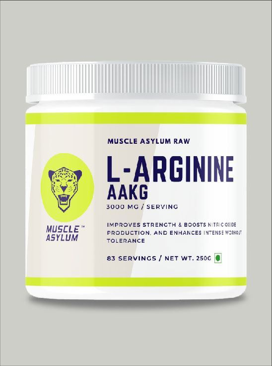 Picture of Muscle Asylum L-Arginine  Nitric Oxide Booster Supplement   - 83 Servings, 250gm
