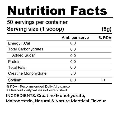 Picture of Muscle Asylum Micronized Creatine Monohydrate Powder - 50 Servings, 250gm (Mango)