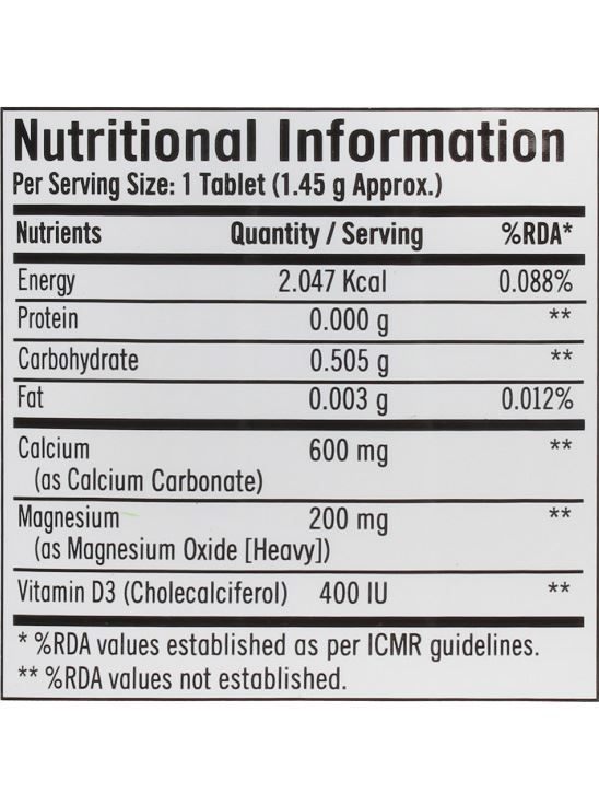Picture of GNC Calcium Plus 600 mg with Magnesium and Vitamin D3 - 180 Tablets