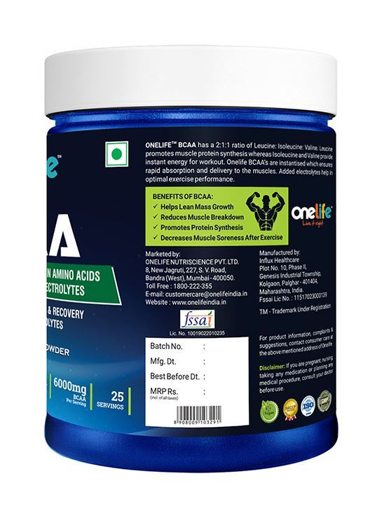 Picture of Onelife BCAA Green Apple 250g
