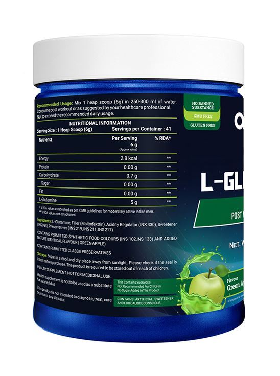 Picture of Onelife Glutamine Green Apple 250g