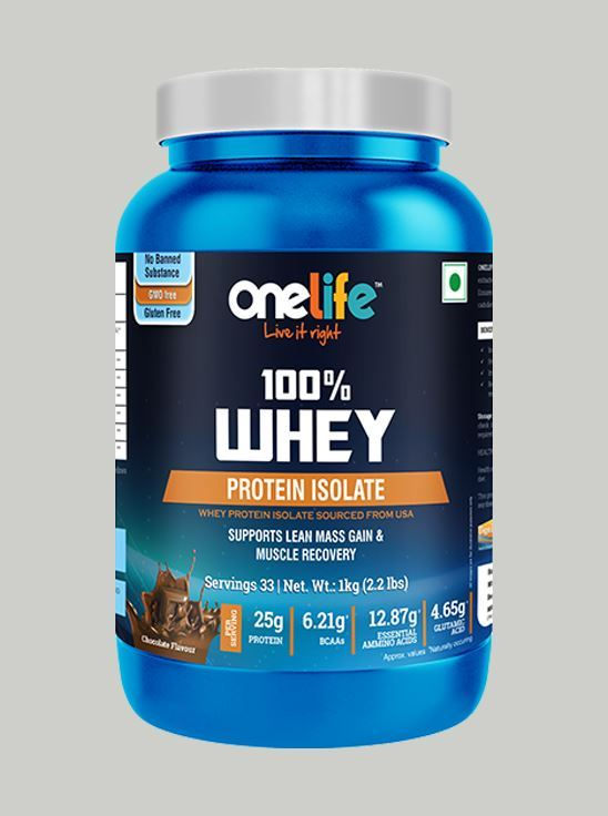 Picture of Onelife 100% Whey Protein Isolate Chocolate 1kg