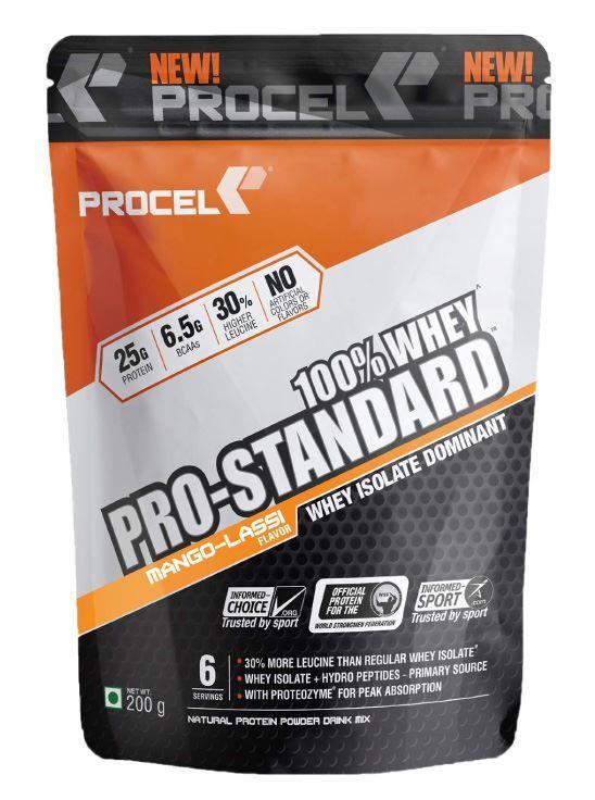 Picture of PROCEL Pro-Standard 100% Whey Trial Pack 200g  x 2(Mango Lassi, Swiss Milk Chocolate)