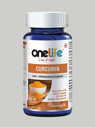 Picture of Onelife Curcumin: Anti - Inflammatory Support - 60 Softgels
