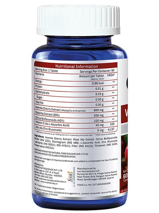 Picture of Onelife VitaC Complex: Immunity Booster - 60 Tablets