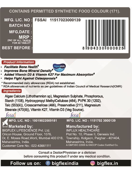 Picture of PharmGrade Calcium Bone Aid (60 Tablets)