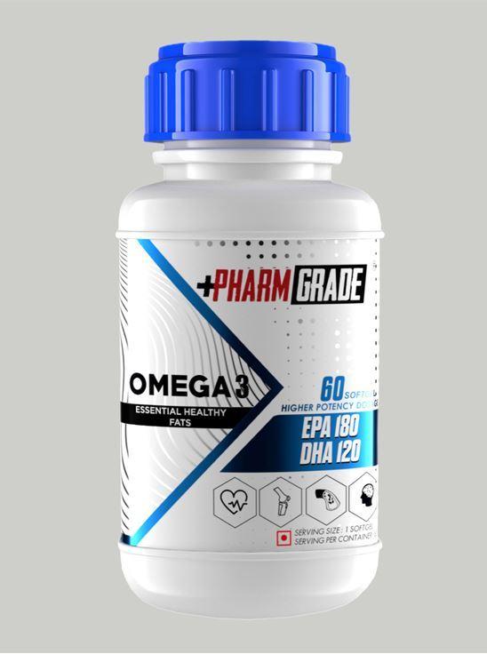 Picture of PharmGrade Omega 3 Fish Oil (60 Softgel)