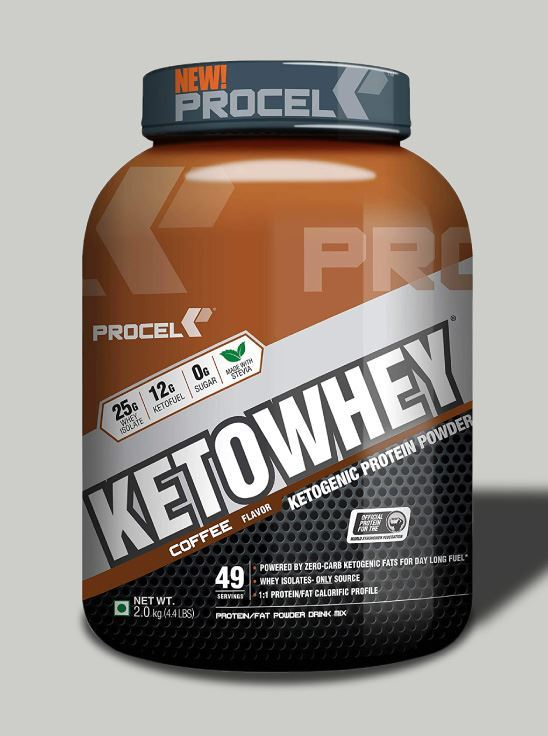 Picture of PROCEL KETOWHEY® Ketogenic Protein Powder with Ketofuel® 2kg (Coffee)