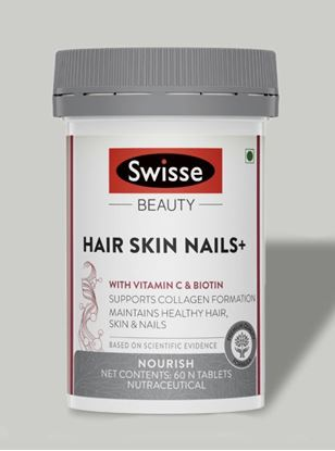 Picture of Swisse Beauty Hair Skin Nails+ with Vitamin C and Biotin- 60 Tablets