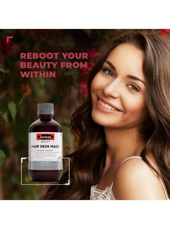Picture of Swisse Ultiboost Hair, Skin and Nails Liquid Supplement with Blood Orange Extract– 300 ML