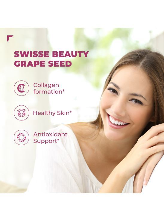 Picture of Swisse Ultiboost Grape Seed Supplement with Vitamin C for Healthy Skin – 60 Tablets