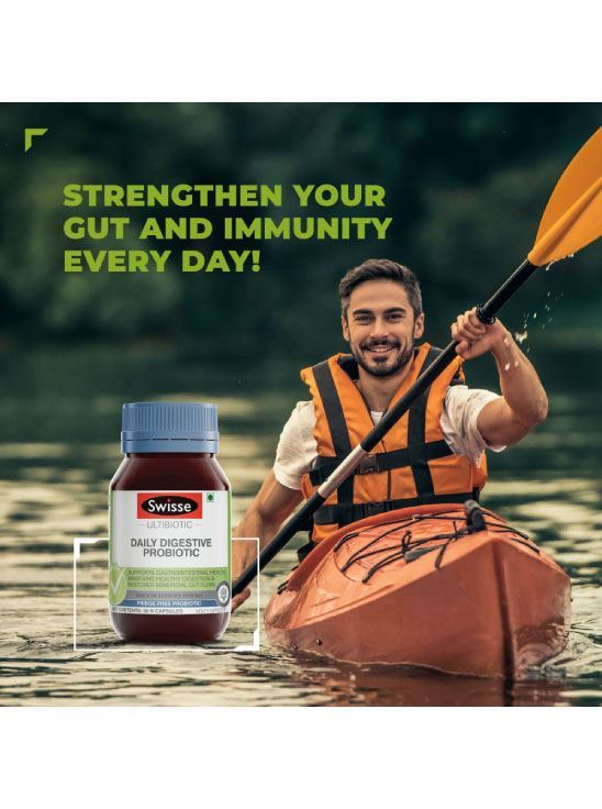 Picture of Swisse Ultibiotic Probiotic Supplement for Immunity and Digestive Health, Gut Health. - 30 Tablets