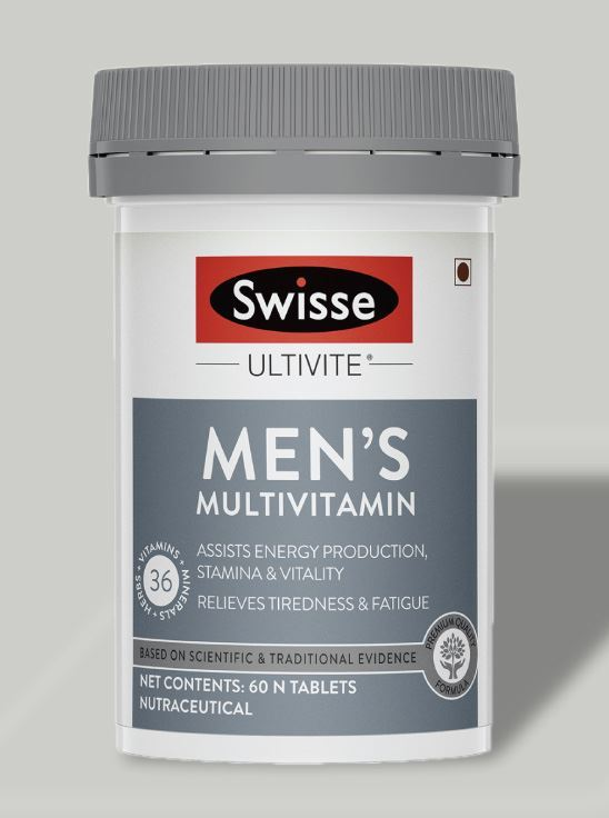 Picture of Swisse Ultivite Men's Multivitamin Supplement for Stamina & Vitality production - 60 Tablets