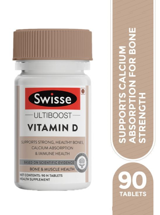 Picture of Swisse Ultiboost Vitamin D3 Supplement for Immunity, Bones & Muscle health - 90 Tablets