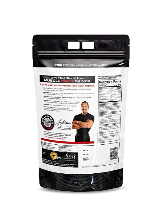 Picture of Labrada Muscle Mass Gainer Chocolate- 11 Lbs