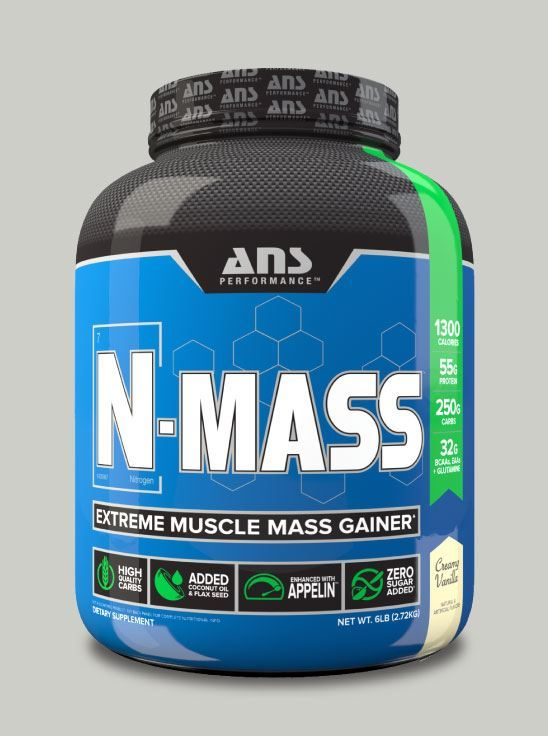 Picture of ANS Performance N-MASS Extreme Muscle Mass Gainer Creamy Vanilla 6lb