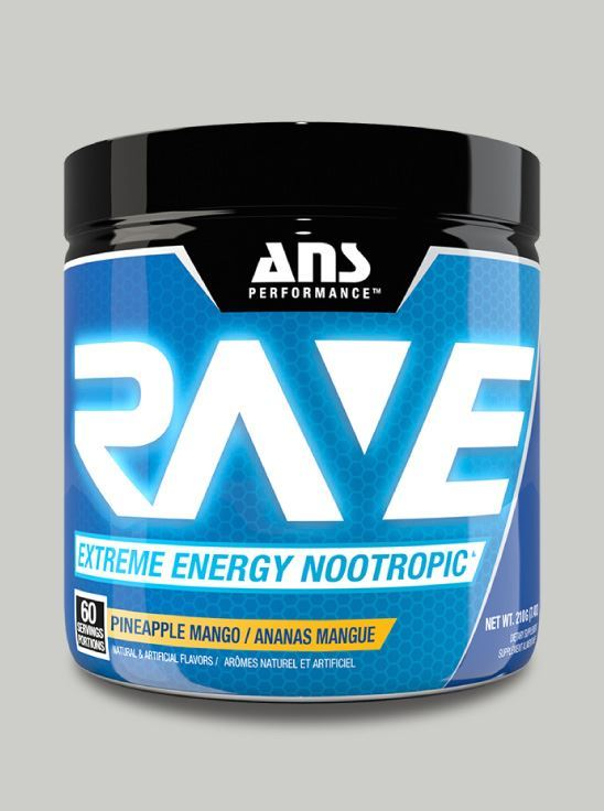 Picture of ANS Performance RAVE Extreme Energy Nootropic Pineapple Mango 60 servings