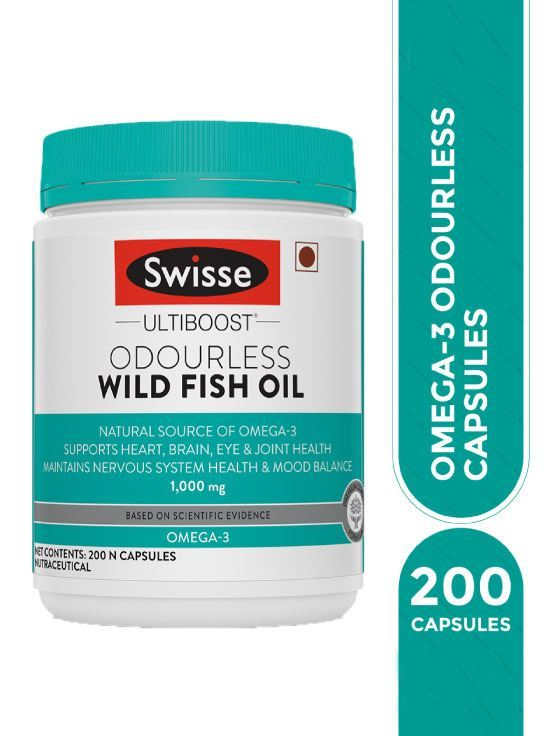 Picture of Swisse Ultiboost High strength Odourless wild fish oil 1000 MG- 200 Capsules