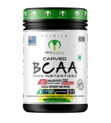 Picture of Metal Carved BCAA | 100% Vegan | Plant Based | - Watermelon 400 grams (40 servings)