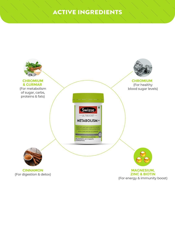 Picture of Swisse Ultiboost Metabolism + 60 Tablets