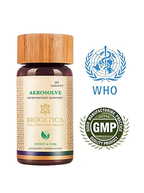 Picture of Biogetica Aerosolve - Respiratory Support, 80 Tablets