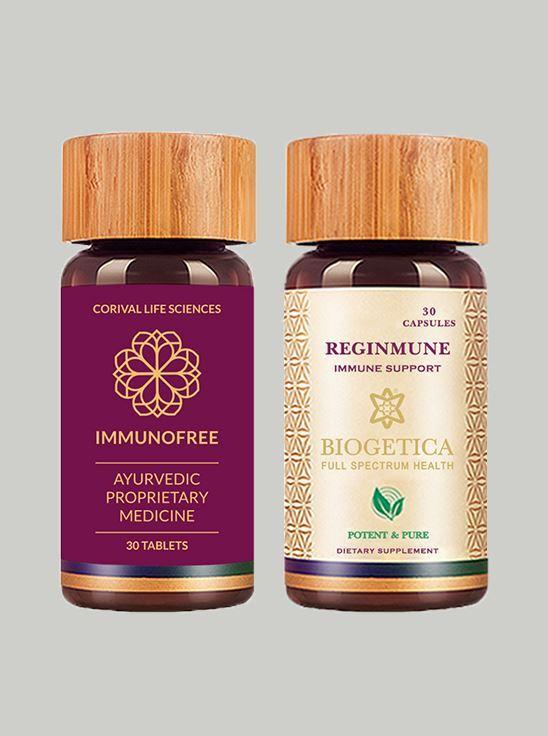 Picture of Wockhardt and Biogetica Core Immunity Kit (ImmunoFree + Reginmune-30)