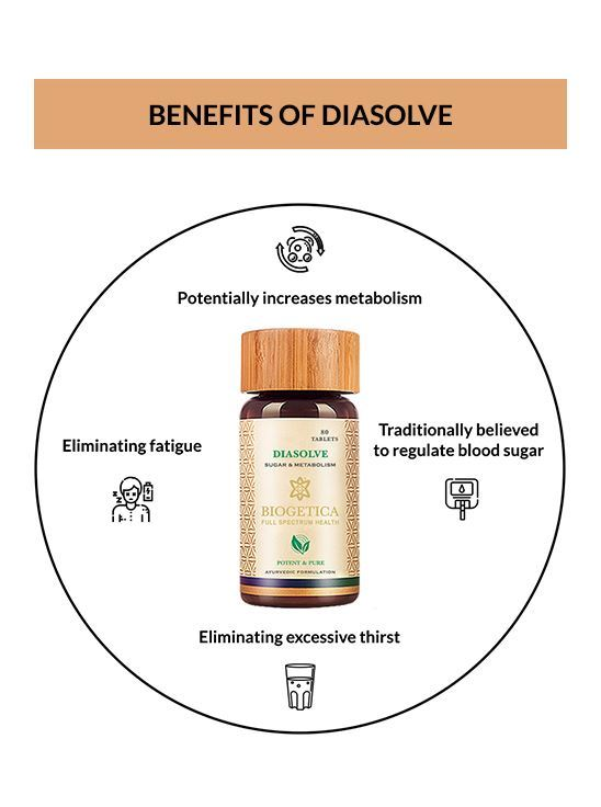 Picture of Biogetica's Diasolve - Sugar and Metabolism Support - 80 Tablets