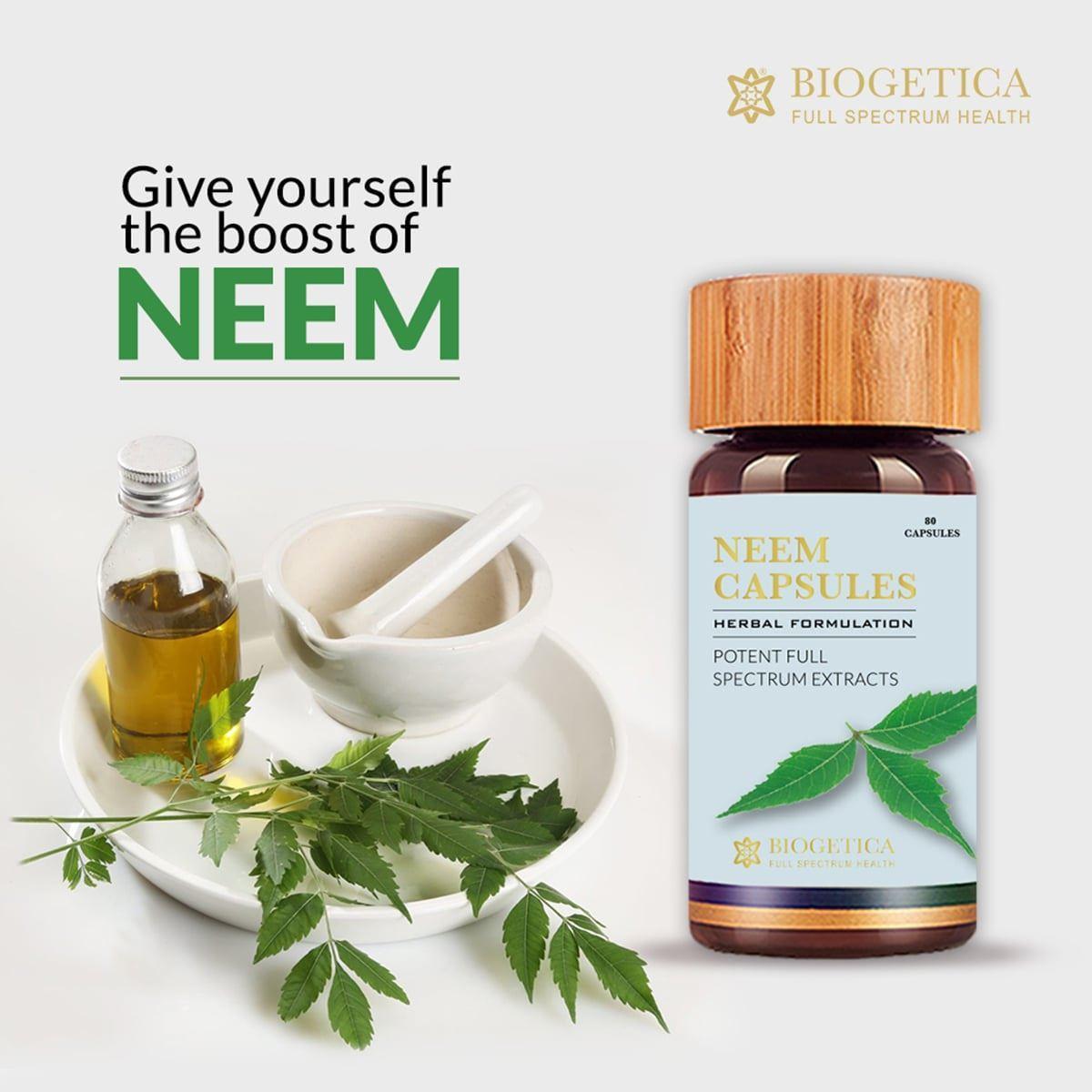 Picture of Biogetica's Blood Purifying Anti-inflammatory Detox Neem Capsules (80 Capsules)