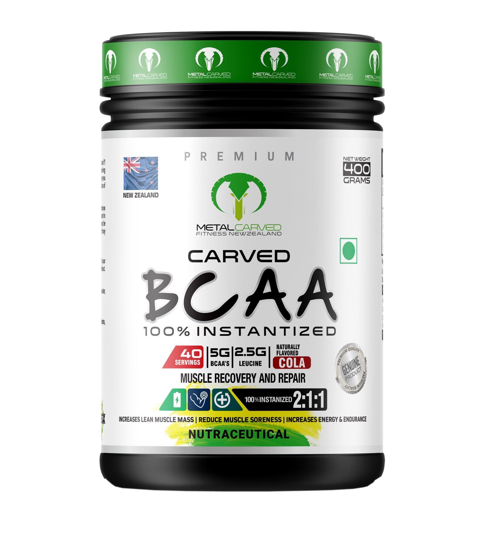 Picture of Metal Carved BCAA | 100% Vegan | Plant Based | - Cola 400 grams (40 servings)