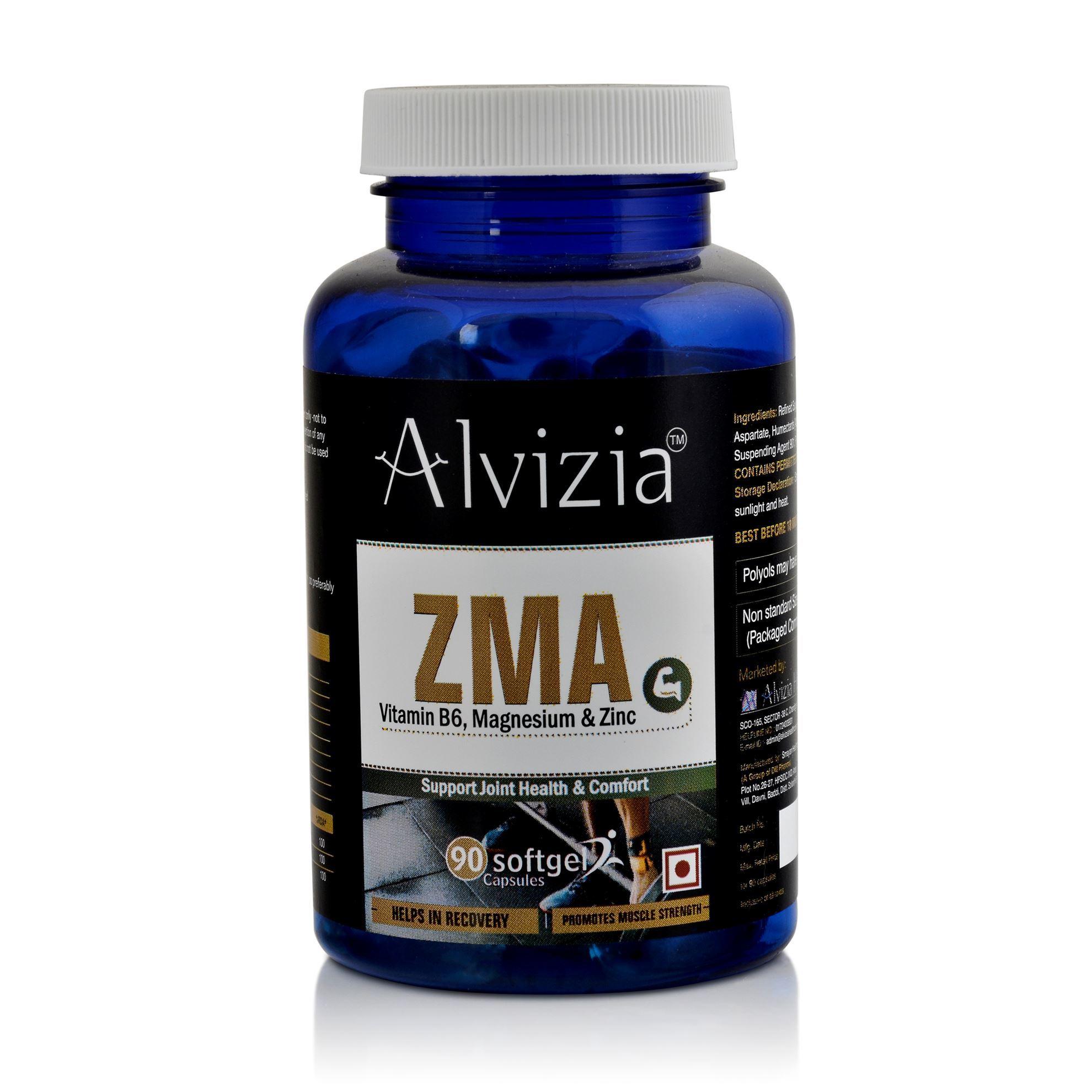 Picture of Alvizia ZMA Softgel 90 Capsules